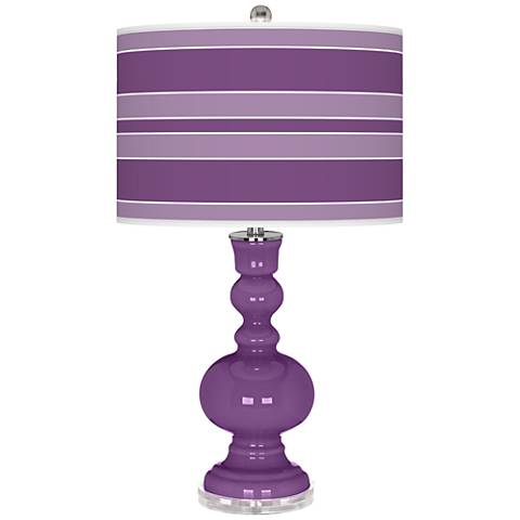 Passionate Purple Bold Stripe Apothecary Table Lamp