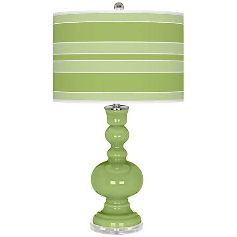 Lime Rickey Bold Stripe Apothecary Table Lamp
