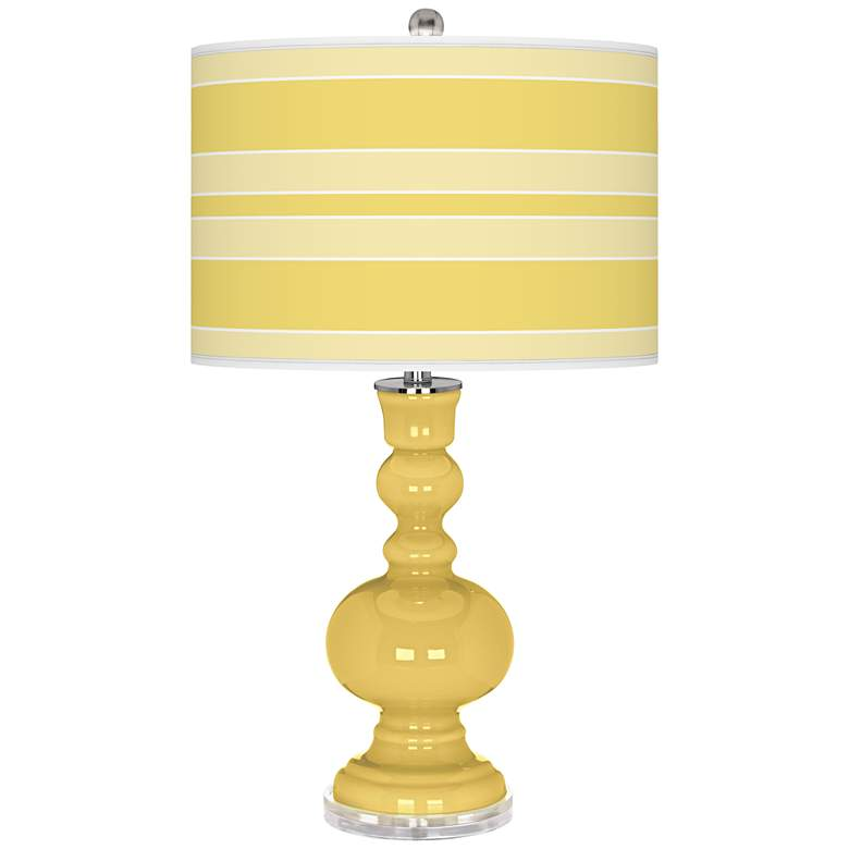 Daffodil Bold Stripe Apothecary Table Lamp