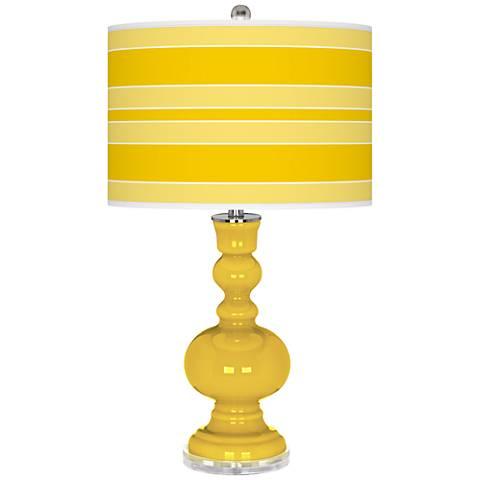 Citrus Bold Stripe Apothecary Table Lamp
