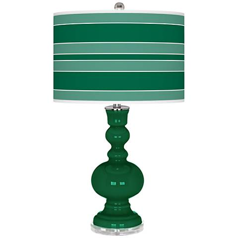 Greens Bold Stripe Apothecary Table Lamp
