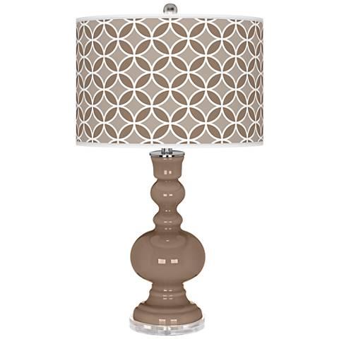 Mocha Circle Rings Apothecary Table Lamp