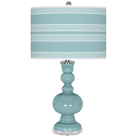 Raindrop Bold Stripe Apothecary Table Lamp