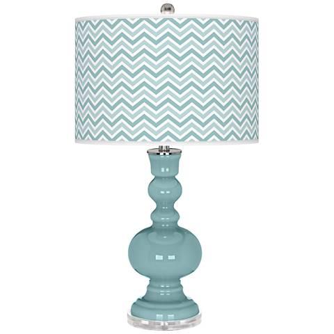 Raindrop Narrow Zig Zag Apothecary Table Lamp
