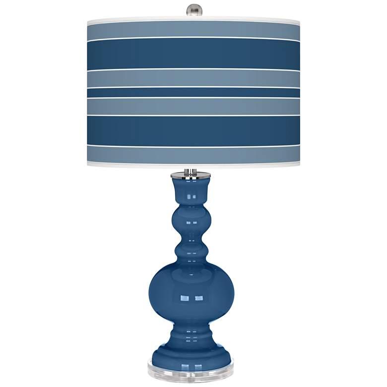 Regatta Blue Bold Stripe Apothecary Table Lamp