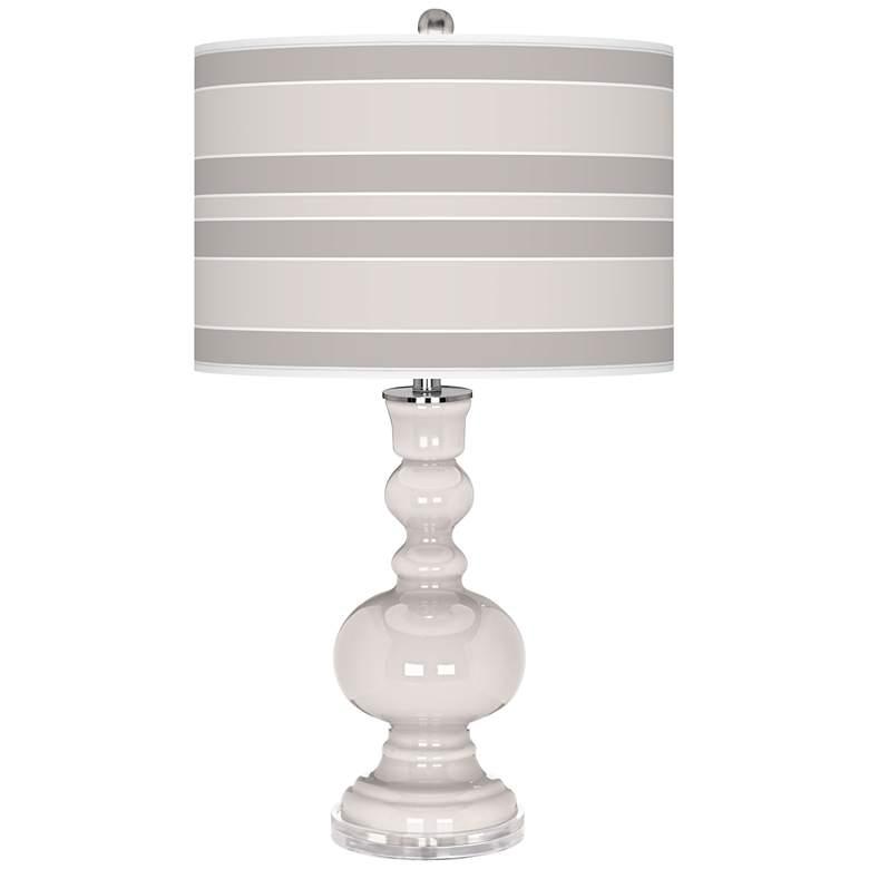Smart White Bold Stripe Apothecary Table Lamp