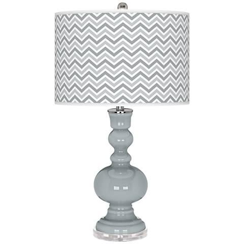 Uncertain Gray Narrow Zig Zag Apothecary Table Lamp