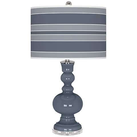 Granite Peak Bold Stripe Apothecary Table Lamp