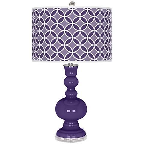 Izmir Purple Circle Rings Apothecary Table Lamp