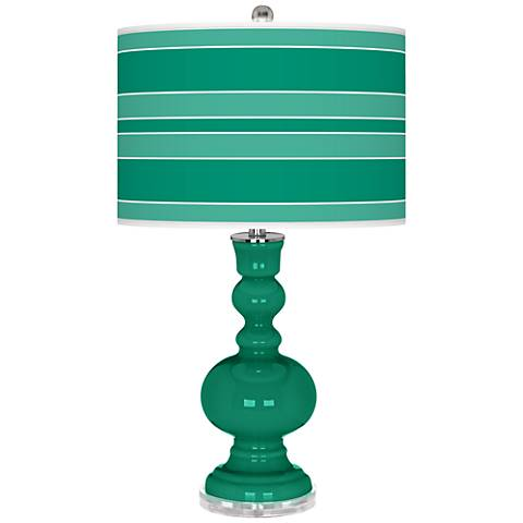 Leaf Bold Stripe Apothecary Table Lamp