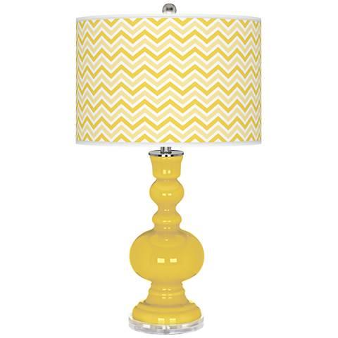 Lemon Zest Narrow Zig Zag Apothecary Table Lamp