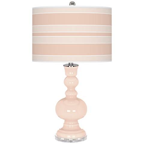 Linen Bold Stripe Apothecary Table Lamp