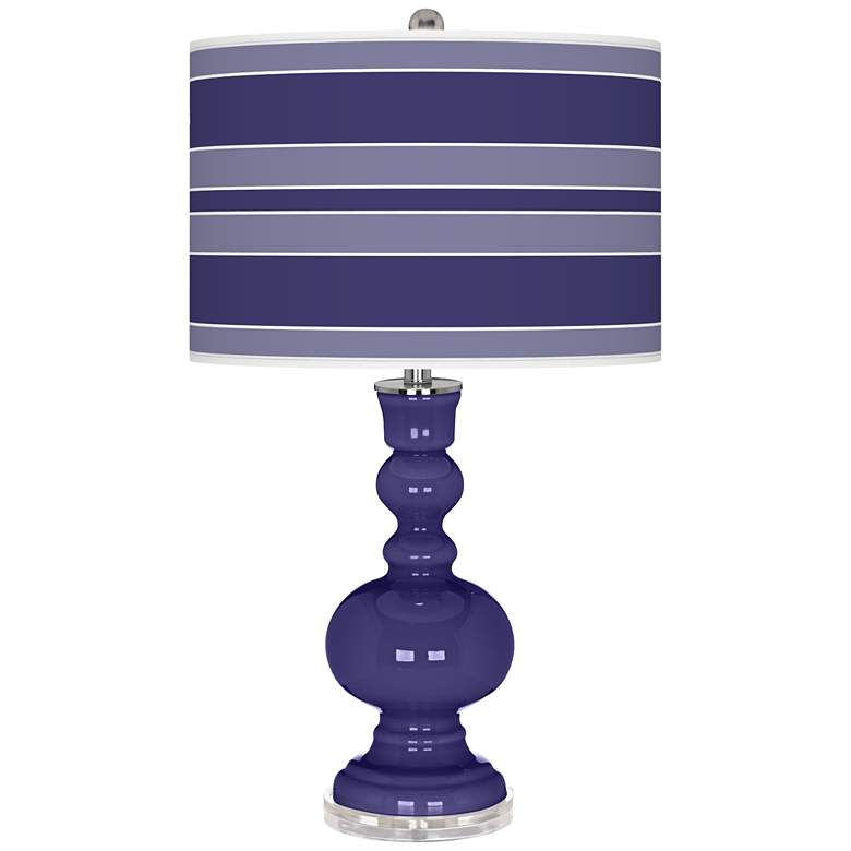 Valiant Violet Bold Stripe Apothecary Table Lamp