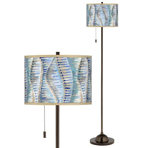 Siren Giclee Glow Bronze Club Floor Lamp