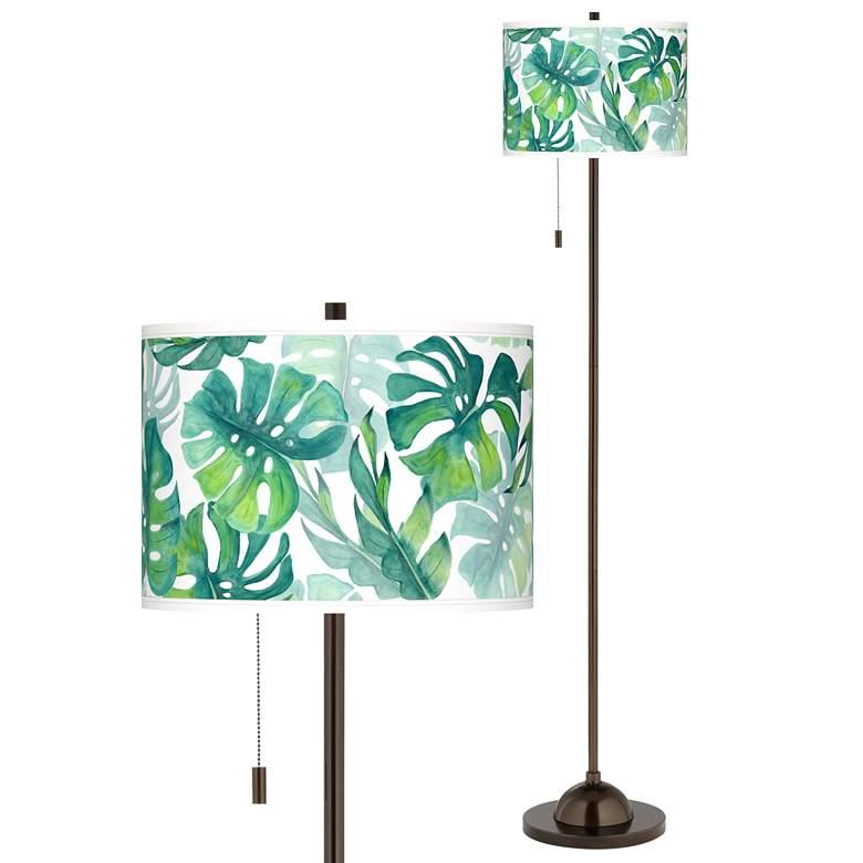 Tropica Giclee Glow Bronze Club Floor Lamp