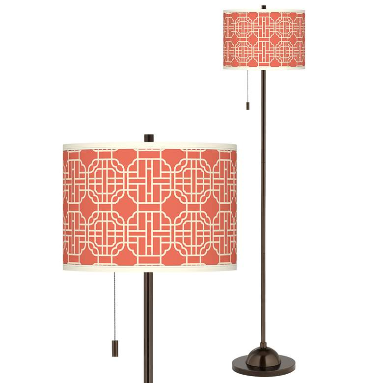 Mandarin Giclee Glow Bronze Club Floor Lamp