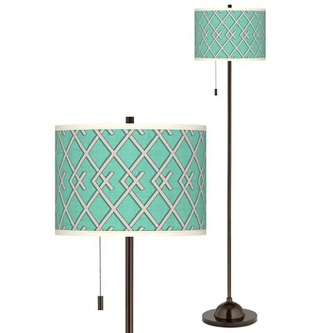 Crossings Giclee Glow Bronze Club Floor Lamp