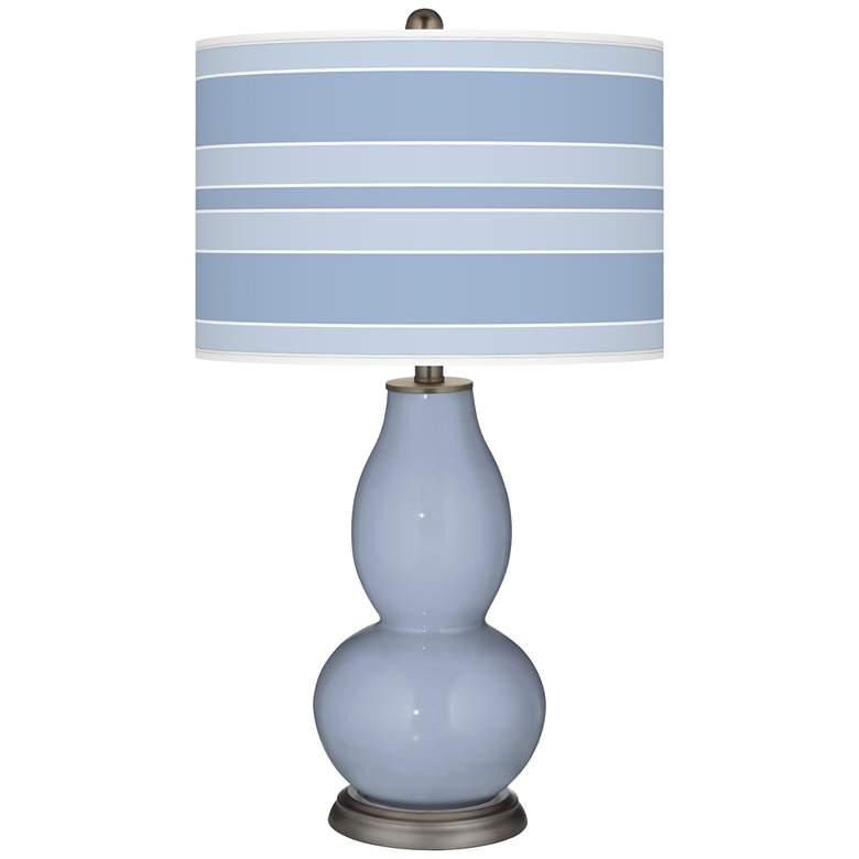 Blue Sky Bold Stripe Double Gourd Table Lamp
