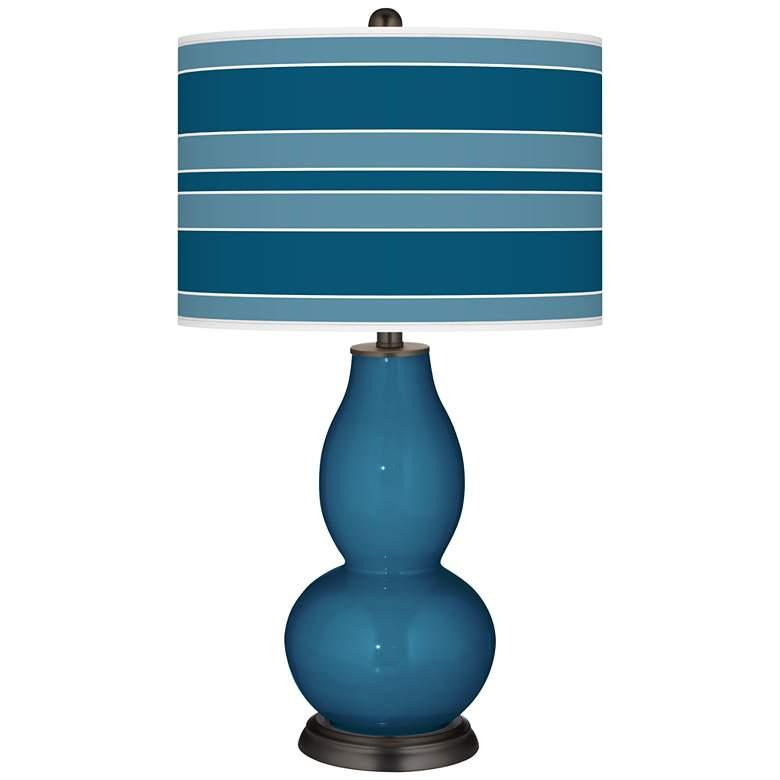 Bosporus  Bold Stripe Double Gourd Table Lamp