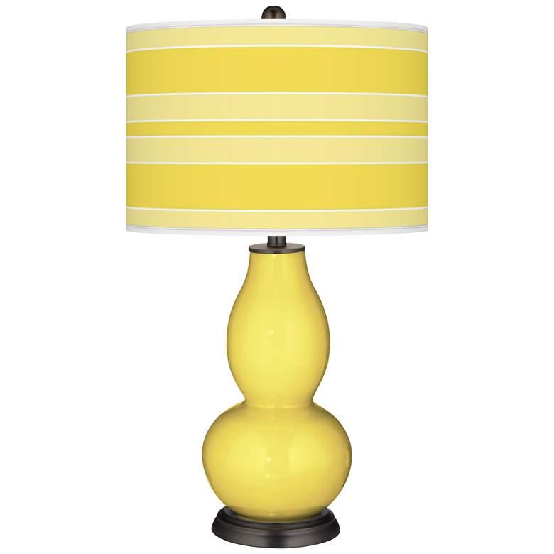 Lemon Twist Bold Stripe Double Gourd Table Lamp