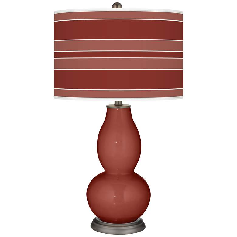 Madeira Bold Stripe Double Gourd Table Lamp