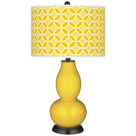 Citrus Circle Rings Double Gourd Table Lamp