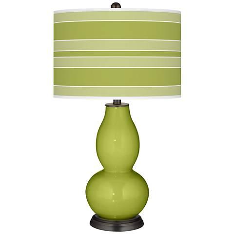 Parakeet Bold Stripe Double Gourd Table Lamp