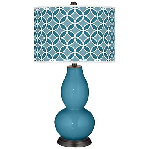 Great Falls Circle Rings Double Gourd Table Lamp