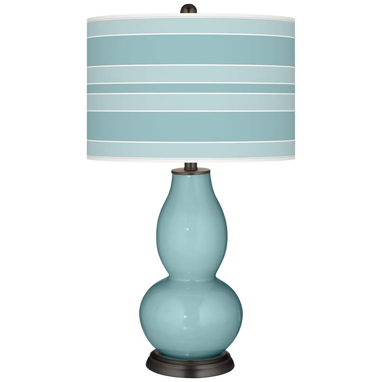 Raindrop Bold Stripe Double Gourd Table Lamp