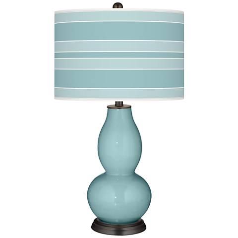 Raindrop Bold Stripe Double Gourd Table Lamp