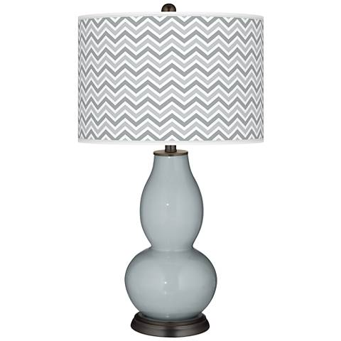 Uncertain Gray Narrow Zig Zag Double Gourd Table Lamp