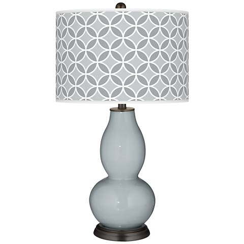 Uncertain Gray Circle Rings Double Gourd Table Lamp