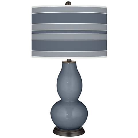 Granite Peak Bold Stripe Double Gourd Table Lamp