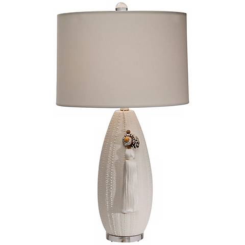 Natural Light Seaclutch Natural Ceramic Table Lamp