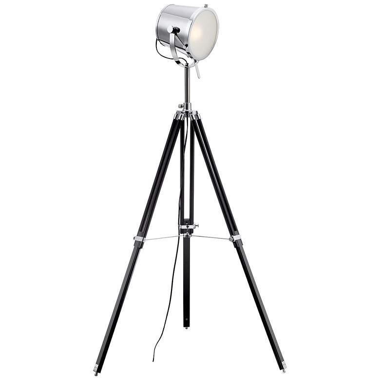 Lite Source Trey Tripod Director's Floor Lamp
