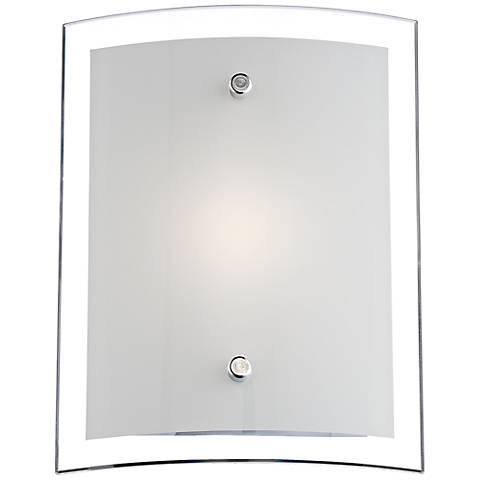 "Possini Euro Elmont 8 1/4"" High Chrome LED Wall Sconce"