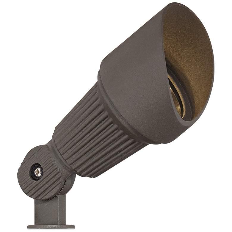 """Hooded Low Voltage Bronze 7 1/2""""H LED Landscape Spotlight"""