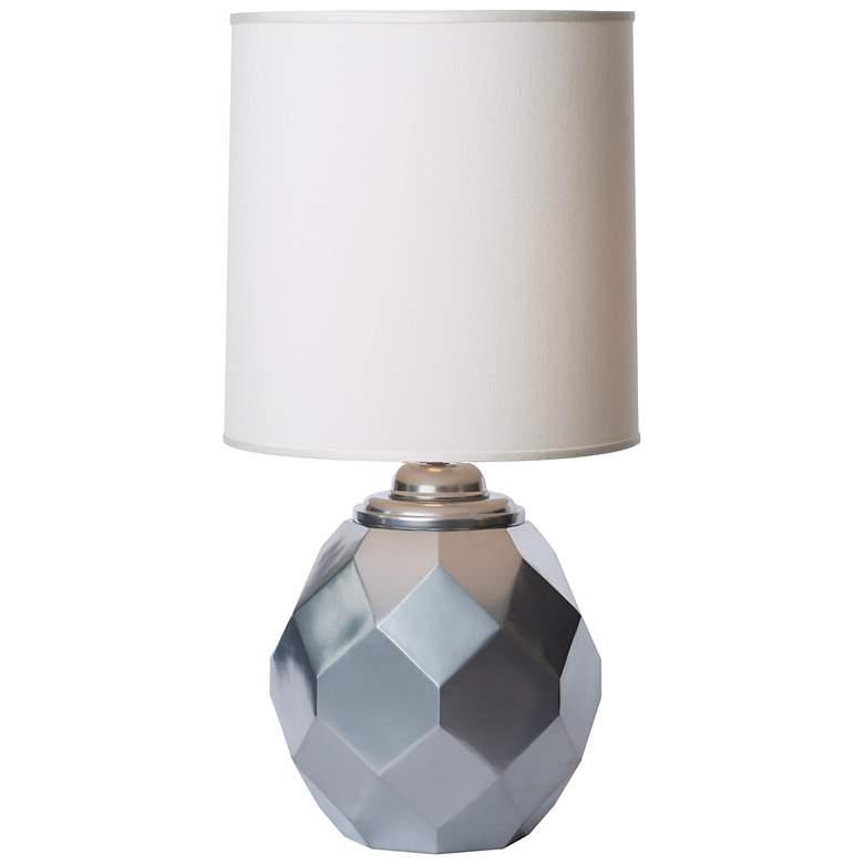 Thumprints Jewel Cast Metal Silvadillo Silver Table Lamp