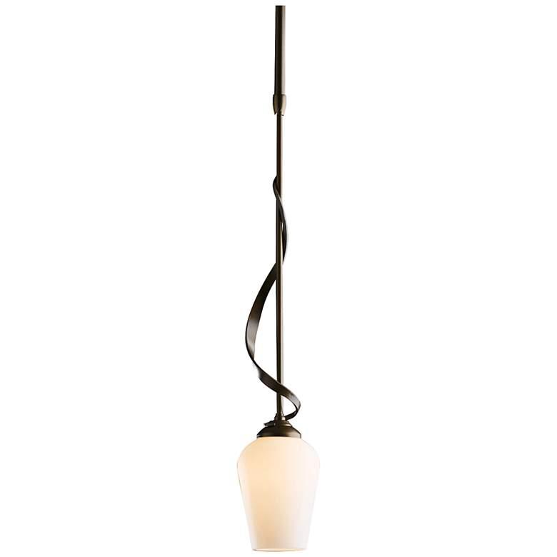 """Hubbardton Forge Flora 4""""W Pearl Glass Bronze Mini Pendant"""