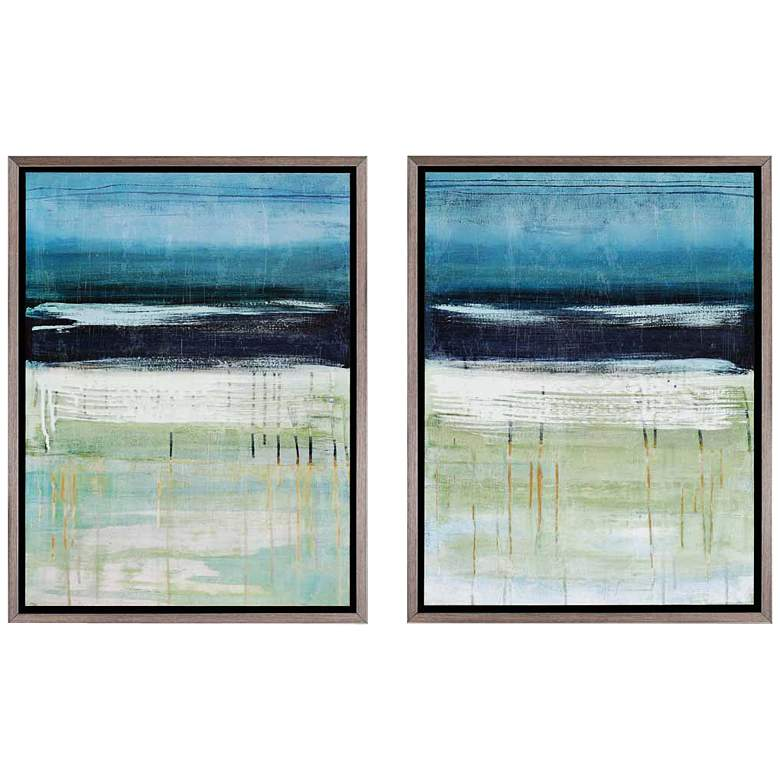 "Sea and Sky Giclee 25"" High Wall Art Set of 2"
