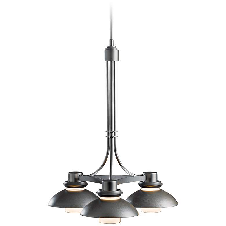 "Hubbardton Forge Staccato 18"" Wide Dark Smoke Chandelier"