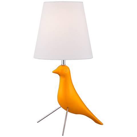 Yellow Twitter Bird Contemporary Accent Lamp