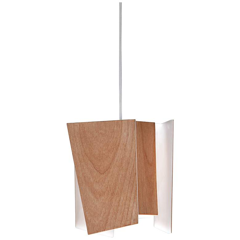 "Cerno Levis 5 1/2"" Wide Beech LED Mini Pendant"
