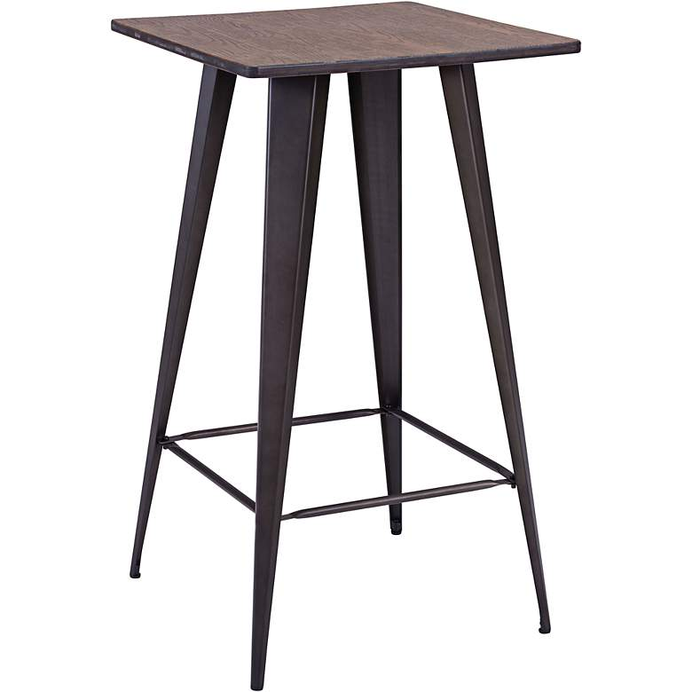 """Zuo Titus 41 3/4"""" High Rusty Elm Finish Standing Bar Table"""