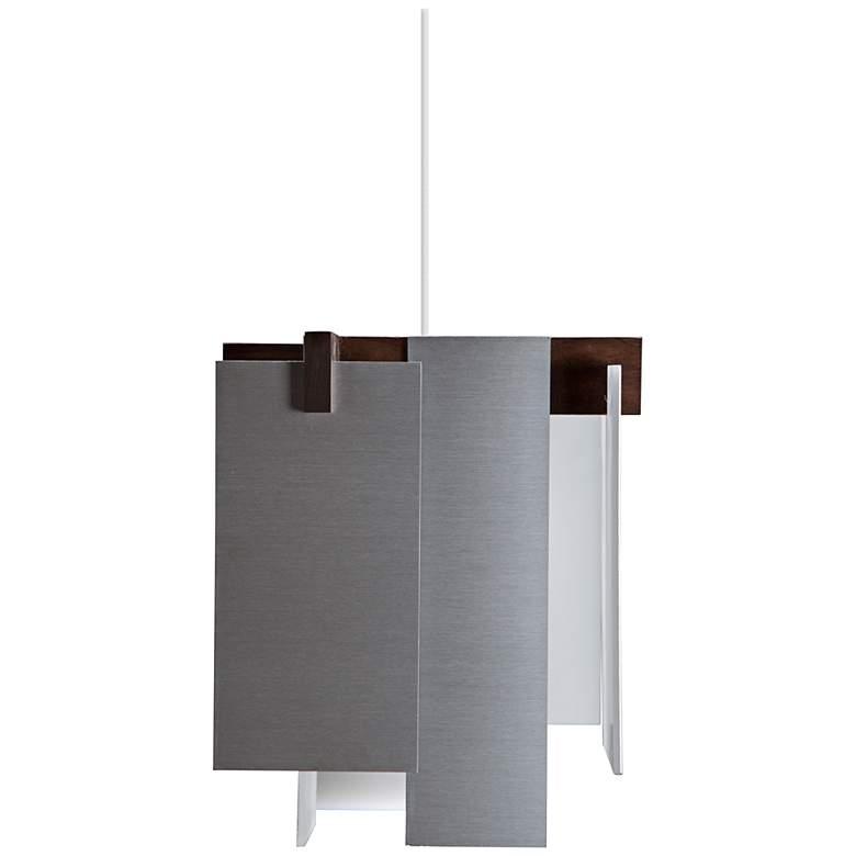 """Cerno Salix Brushed Aluminum 7 1/2"""" Wide LED Mini Pendant"""