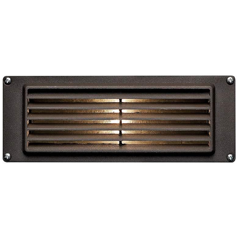 """Hinkley 8 3/4"""" Wide Bronze Louvered LED Landscape Deck Light"""