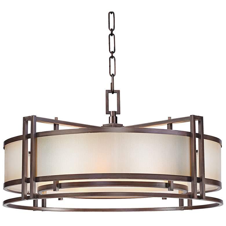 """Metropolitan Underscore 30"""" Wide Bronze Pendant Light"""