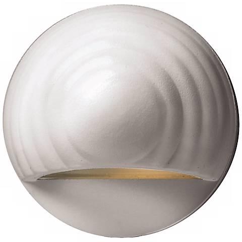 Hinkley Matte White Round Eyebrow 12 Volt LED Deck Light