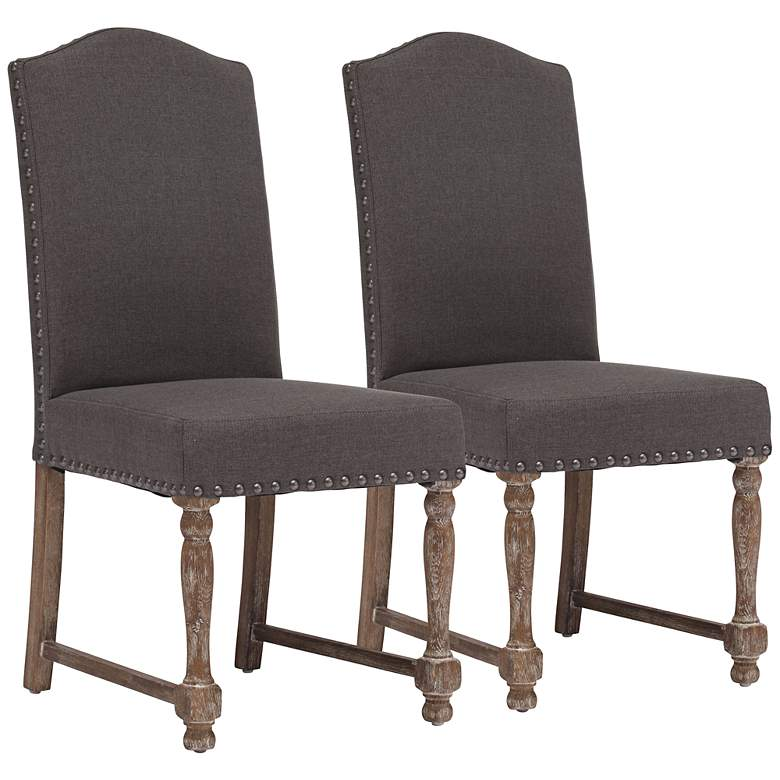 Set of 2 Zuo Richmond Charcoal Gray Chairs