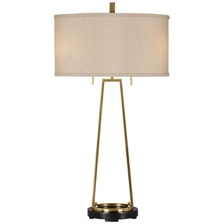 Uttermost Alina Tapered Brass Console Lamp